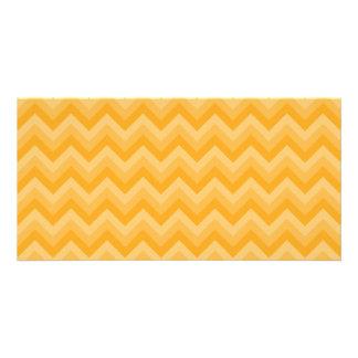 Sunny Yellow Zig Zag Pattern. Photo Card