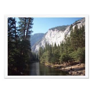 """Sunnyside of the River"" Yosemite Valley Poster"
