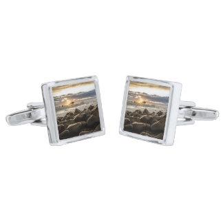sunrise-1239727 silver finish cufflinks