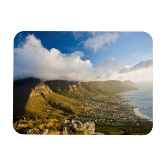 Sunrise Above Camps Bay And Table Mountain Rectangular Photo Magnet