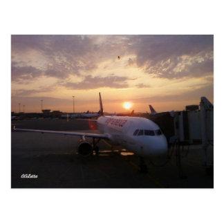 Sunrise, Airplane Postcard