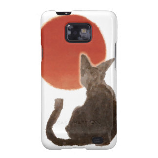 Sunrise and Cat Samsung Galaxy SII Covers