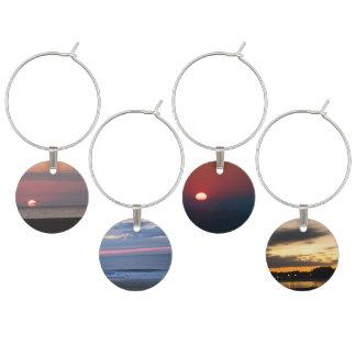 Sunrise and Sunset Wine Charm