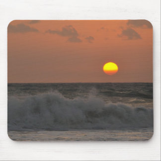 Sunrise and Waves Mouse Pad