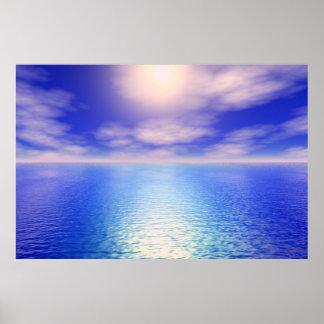 Sunrise Aquarium Background Poster