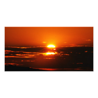 Sunrise As The Day Breaks Photo Greeting Card