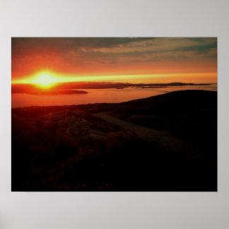 Sunrise at Acadia National Park, Cadillac Mountain Poster