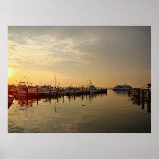 Sunrise at Atlantic Highlands New Jersey Poster