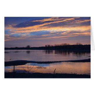 Sunrise at Baseline Reservoir Card