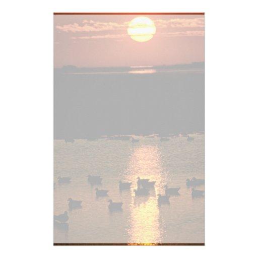 Sunrise at Blackwater National Wildlife Refuge Custom Stationery