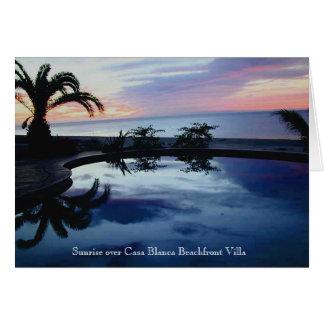 Sunrise at Casa Blanca Beachfront Villa Card
