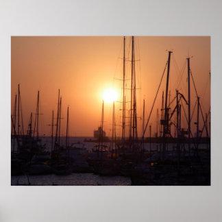 Sunrise at Crete Poster