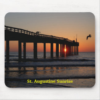 Sunrise At Fishing Pier Mouse Pad