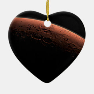 Sunrise at Gale Crater Planet Mars Ceramic Heart Decoration