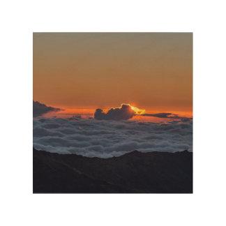 Sunrise at Haleakala Wood Prints