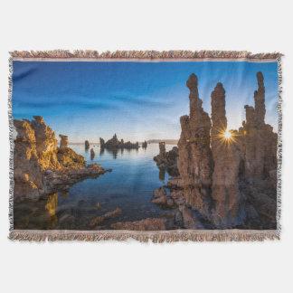Sunrise at Mono lake, California Throw Blanket