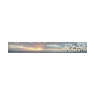 Sunrise at Sea I Pastel Seascape Wrap Around Label