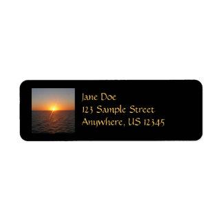 Sunrise at Sea III Ocean Horizon Seascape Return Address Label
