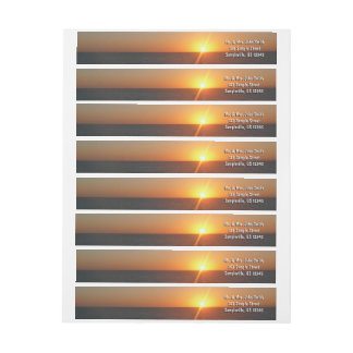 Sunrise at Sea III Ocean Horizon Seascape Wrap Around Label