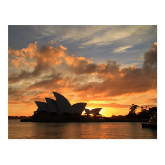 Sunrise at Sydney Opera House Postcard