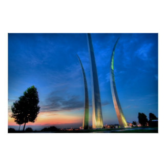 Sunrise at the Air Force Memorial Poster