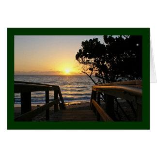 Sunrise at the Boardwalk Card