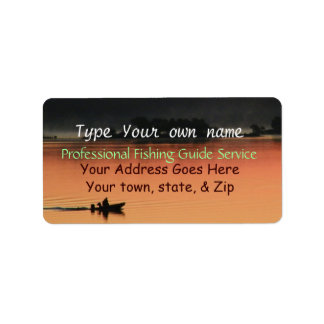 Sunrise at the Lake Labels-customize Label
