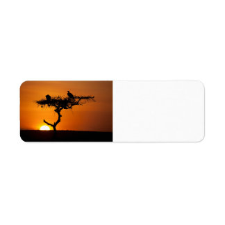 Sunrise at the Masai Mara, Kenya Return Address Label