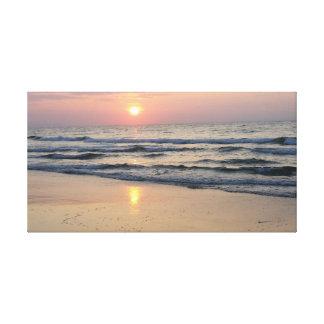 Sunrise at the sea canvas print