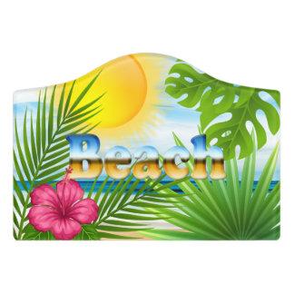 Sunrise Beach Design Door Sign