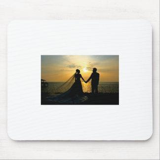 Sunrise Beach Wedding Mouse Pad
