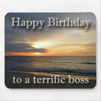 Sunrise Birthday Boss Mousepad