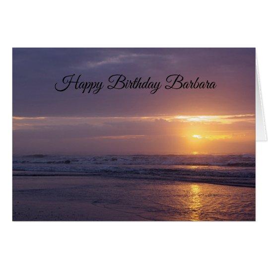Sunrise Birthday on the Beach Card