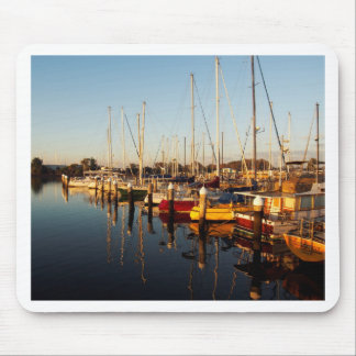 Sunrise Boats Mouse Pad