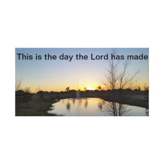 Sunrise canvas with scripture