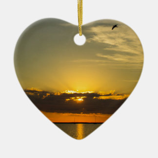 Sunrise Ceramic Heart Decoration