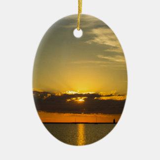 Sunrise Ceramic Oval Decoration