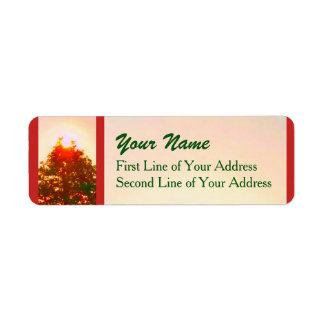 Sunrise Christmas Lights Photo 2 Return Address Label