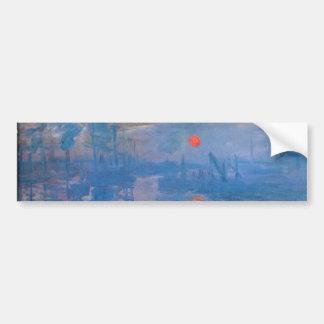 Sunrise - Claude Monet Bumper Sticker