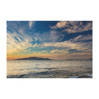 Sunrise Cloudy Blue Sky Nha Trang Vietnam Canvas Print