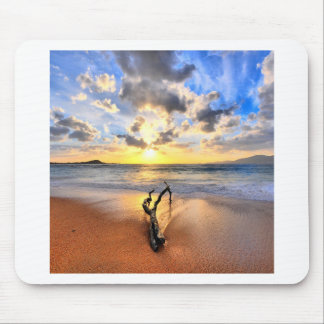 Sunrise Driftwood Beach Mouse Pad