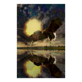 Sunrise-Eagle-Abstract-Ver-1 Posters