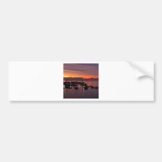 Sunrise Early Morning Harbour Car Bumper Sticker