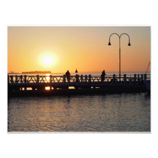 Sunrise Fishing Photo Print
