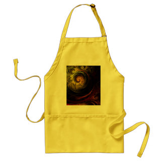 Sunrise Floral Red Abstract Art Apron