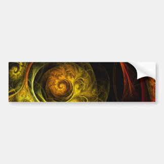 Sunrise Floral Red Abstract Art Bumper Sticker
