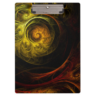 Sunrise Floral Red Abstract Art Clipboard