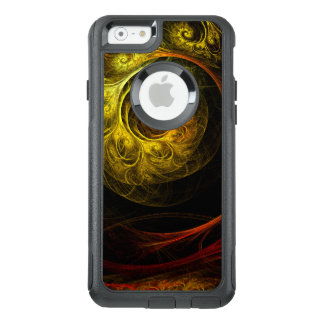 Sunrise Floral Red Abstract Art Commuter OtterBox iPhone 6/6s Case