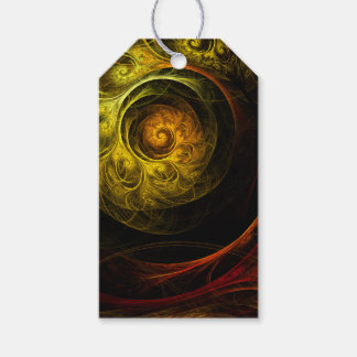 Sunrise Floral Red Abstract Art Gift Tags