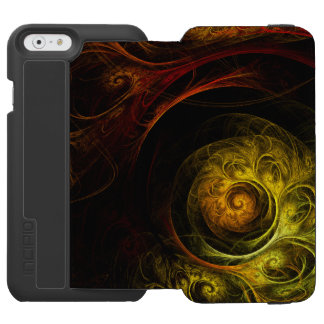 Sunrise Floral Red Abstract Art Incipio Watson™ iPhone 6 Wallet Case
